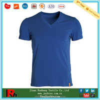 Trade Assurance custom men sport v neck blank polyester tee