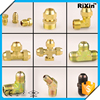 RX - 1189 new arrive brass npt threaded tee union 1/8 brass flare tee union brass long flare nut