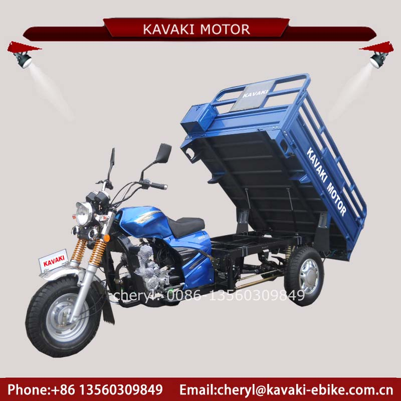 Manufactory Supplier Hot Sale Cheaper Three Wheel Motorcycle Open Body Gas Tricycle Richshaw