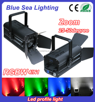 200W LED White/rgbw professional fresnel led spot light for tv studio