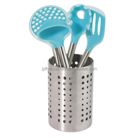 6pcs nylon kitchenwaren utensil set, stainless steel tube handle