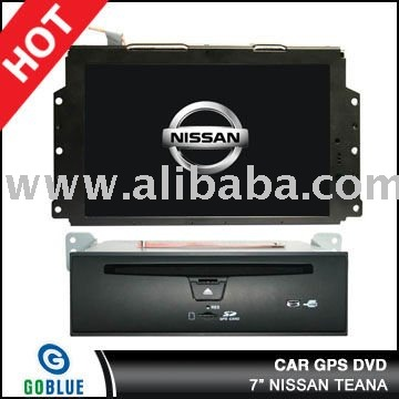 7 inch car dvd player speical for NISSAN TEANA with high resolution digital touch screen ,gps ,bluetooth,TV,radio,ipod