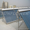 Solar water heater panel with control