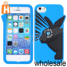 Attractive Fashionable 3D Rabbit Silicone Case for iPhone 5S 5, Silicone Rabbit Case for iPhone 5 5S Mobile Phone