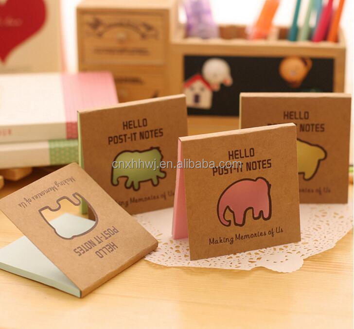 high quality die cut memo pad shaped notepad custom shape sticky notes