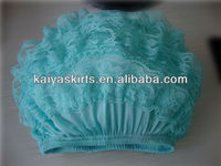 2016 Hot Sales Adorable Solid Color Aqua Baby Lace Bloomers with Ruffles for Kids