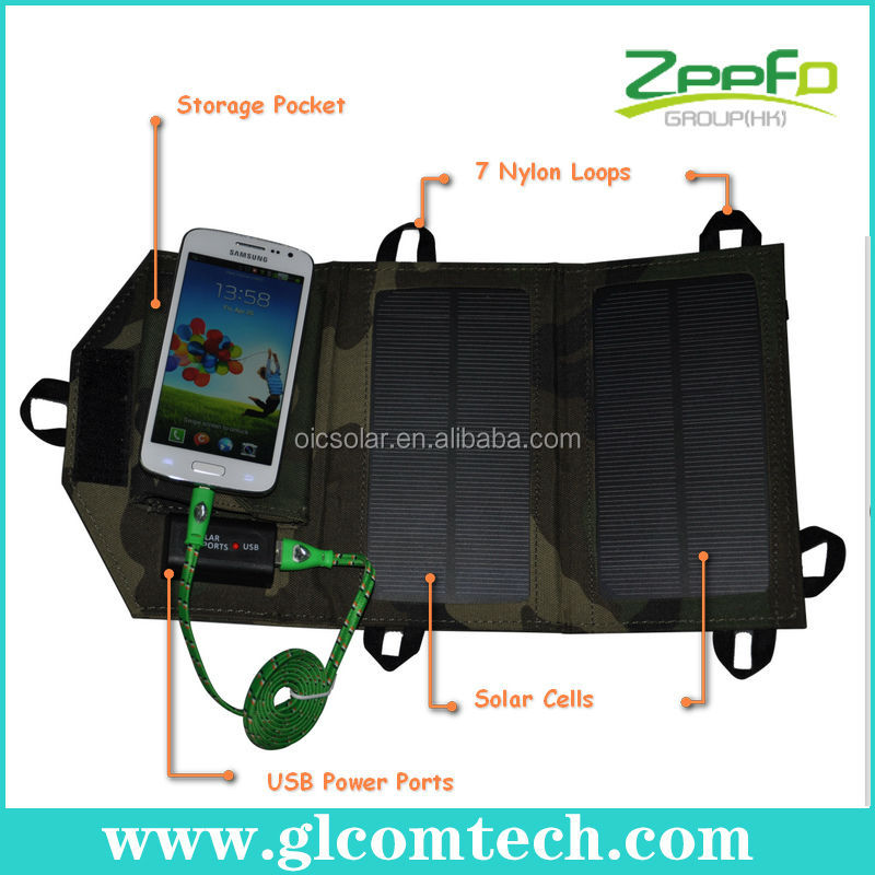 Factory high quality 2.5W USB portable solar charger with high efficiency solar cell charger