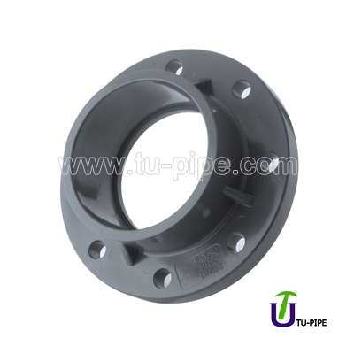 Chemical UPVC One piece flanges ASTM D2467 (SCH 80)