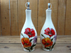 Hand paint ceramic oil and vinegar cruet set