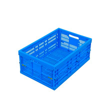 HDPE ECO-friendly foldable plastic crate packaging/plastic storage box with lid for food