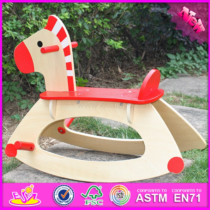 new design baby funny toy wooden rocking horses for sale W16D088