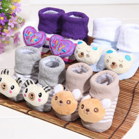 Hot sale spring and autumn period cotton baby socks cartoon socks doll baby socks