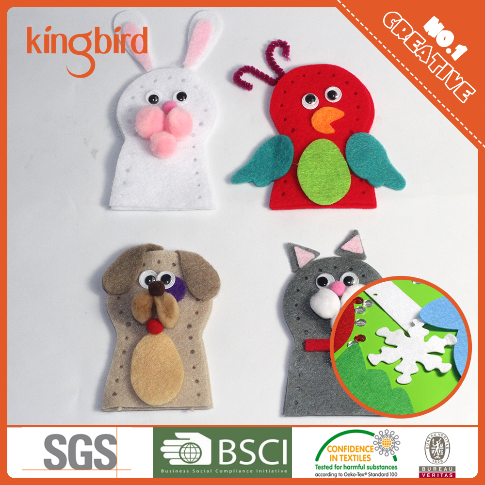 Kids Handmade Craft Diy Felt Stuffed Plush puppets felt craft
