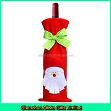 Christmas holiday decorative snowman wine bottle cover