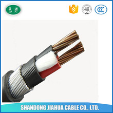 LUXI VV cable 2 copper Core Low voltage PVC Insulation PE Sheath Steel tape armor Electric Power Cable
