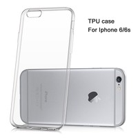 LOGO phone case Custom Clear Transparent Soft TPU Case for iPhone 6 6s
