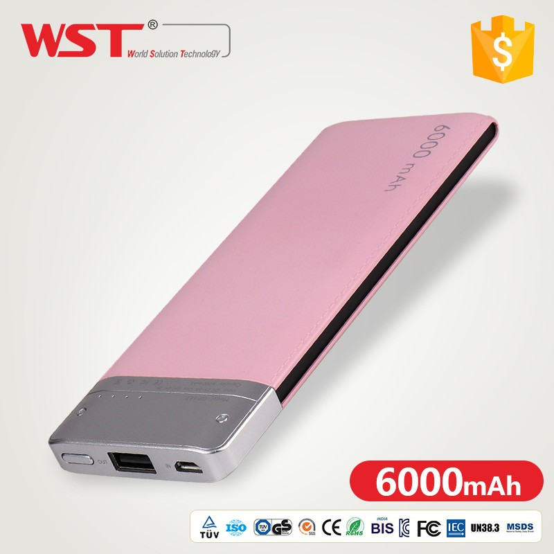 Birthday Gift CE FCC Mobile Phone 6000mah Power Bank Factoy Supply