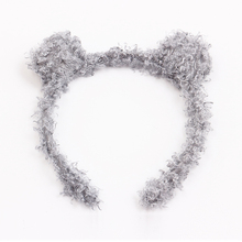 Grey Velvet Ear Hair band head band hair accessories for girls children kids