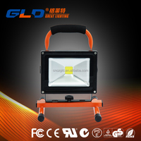 Portable 10w rechargeable led flood light 20w 30w 50w with battery
