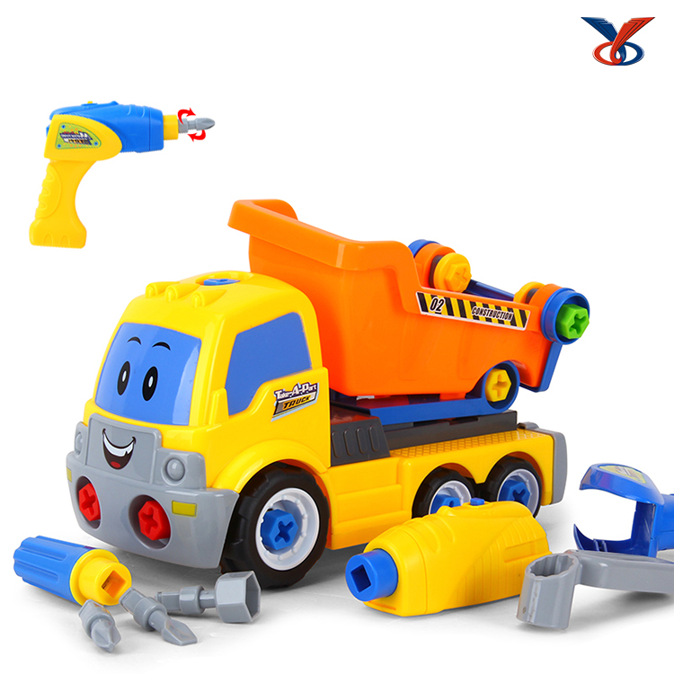 New B/O DIY Assembling Detachable Toy Dump Truck