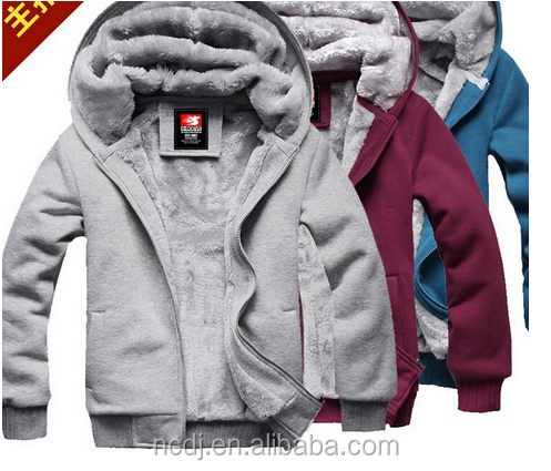 Pullover Slim Fit Man Hoody Fleece Winter Zipper Hoodies with Double Pocket