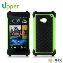 Made in China low price rock carbon fiber hard football thin bumper smart phone cover slim armor case for htc one m7 802w 801e
