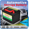 Dry Charged Battery Type and 12V Voltage used lead acid Korean Car Batteries