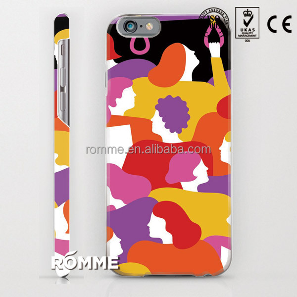 Professional China phone case manufacture customize print 3D sublimation printing PC pattern hard back case for iphone 6
