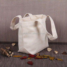 Custom recyclable fashion printing small folding tote shopping cotton bag wholesale