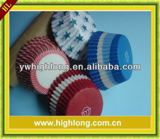 Different designed baking paper cup cake.