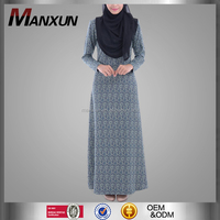 Modest Generous Summer Abaya Ladies Pattern Maxi Dress Saudi Islamic Clothing For Women In Dubai