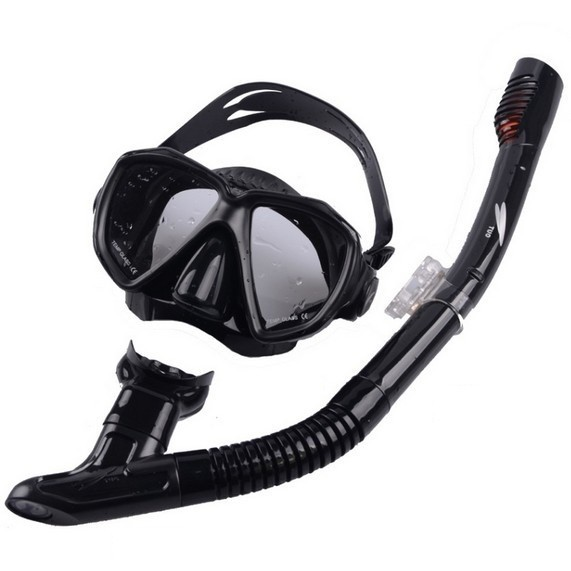 Adults diving snorkel set with soft mouth piece