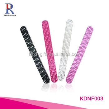 Hot sale incredible bling jewely beaded nail file paper board
