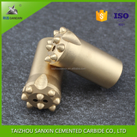Gangxin Brand carbide 34mm taper button bits, mining drill bits for rock drilling and mining