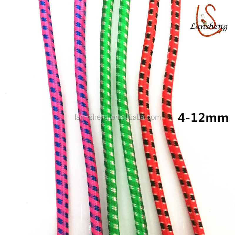 6mm round elastic woven cord