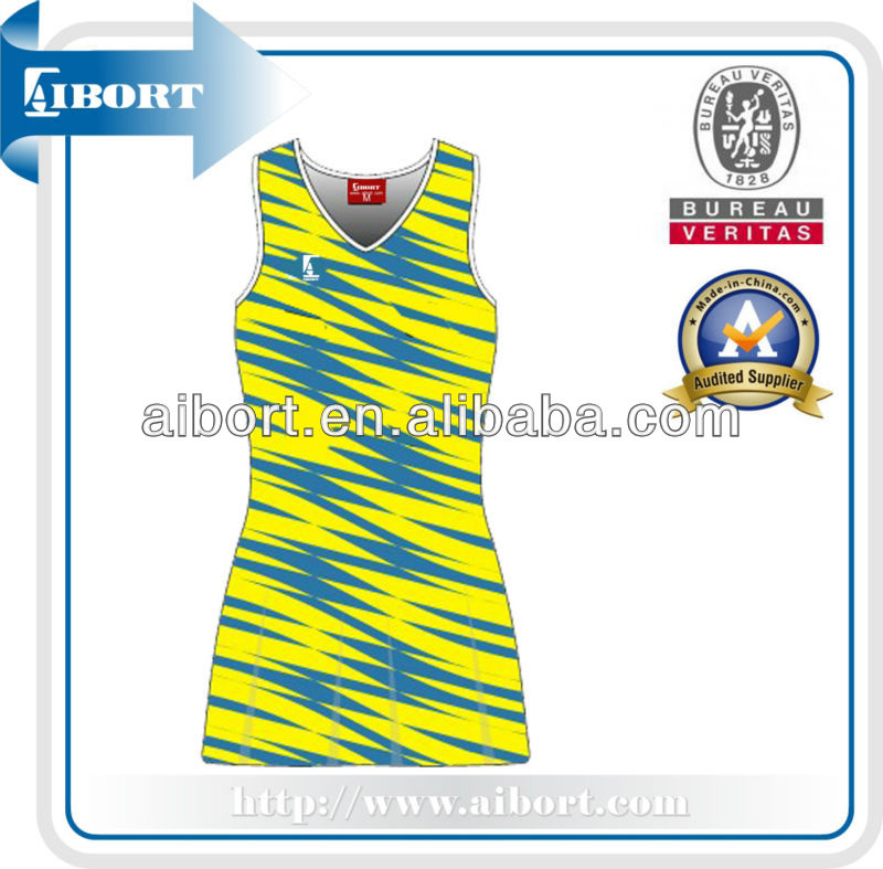SUBNT-574-4 sublimation colorful netball uniform