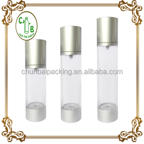 cosmetic packing 15,ml 20ml 30ml 50ml 100ml airless bottle with spray pump