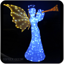 Golden Festival Import LED Chip lighted christmas acrylic angel