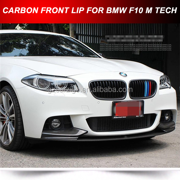 FOR BMW F10 5-Series M-Tech M Sport P Style Front Bumper Lip -Carbon Fiber
