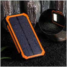 Solar Panel Charger with 6LED Flashlight Portable Phone Charger Backup Power Pack Dual USB Port External Battery