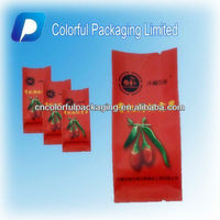 Organic Dried goji berry packing/coloful packaging limited plastic packaging bag/food safe packaging bag