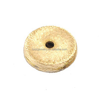 cheap jewelry findings brushed 24k gold plated metal brass scattered beads for bracelet making
