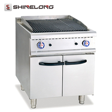 Commercial restaurant Equipment Gas Lava Rock Grill With Cabinet