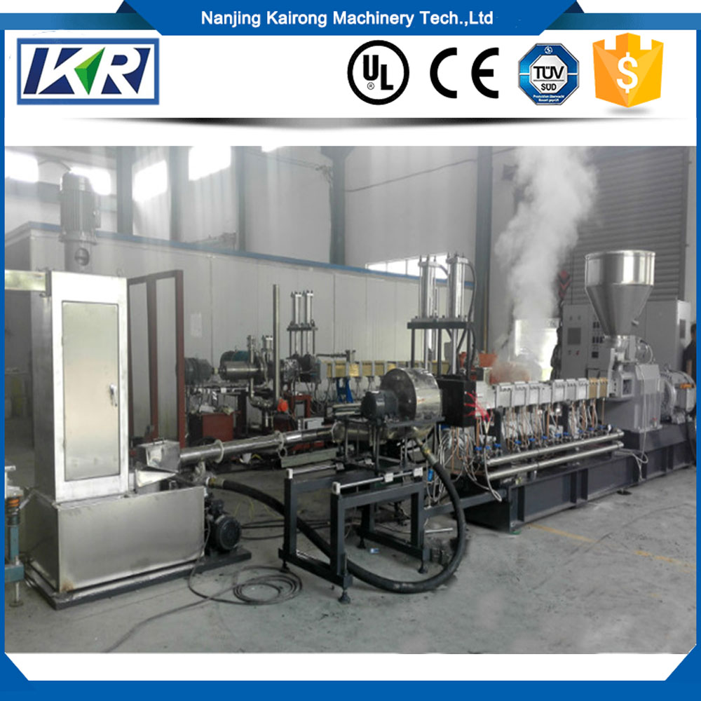 Masterbatch Compound Granulator Twin Screw Extruder/Carbon Black Masterbatch Wax Pellet Making Machine