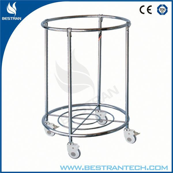 China BT-SLT010 Hospital stainless steel laundry cart, durable Housekeeping Laundry Trolley/hamper Carts