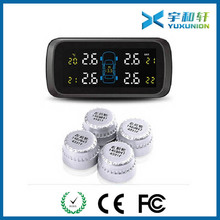 Wireless TPMS for car, Tire Pressure Monitoring System with 4 DIY Wireless External sensors Tire Gauge