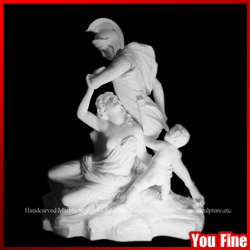 Natural Marble Father Mother And Son Sculpture Statue