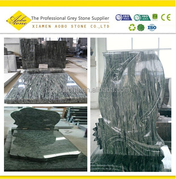 Muslim Chinese green granite tombstone and headstone