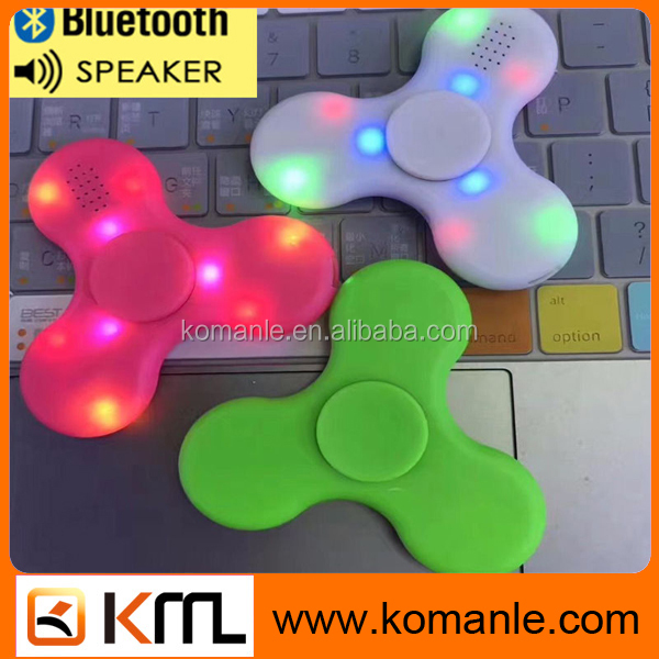 Promotional gift toy triangle spinner bluetooth speaker music led light hand finger spinner toy spinner toys for adult