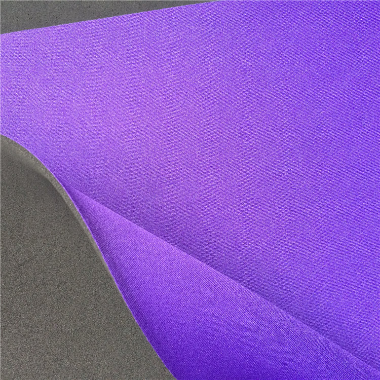 3mm-3.5mm neoprene fabric with one side bonded poly fabric thick laminated color